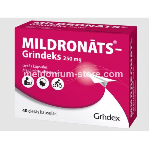 Mildronate Meldonium 250mg 40 capsules